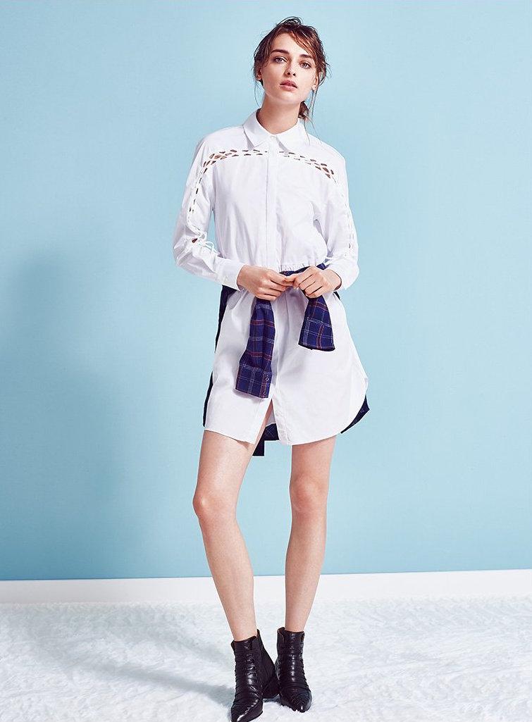 Thakoon Addition Lace Detail Shirtdress