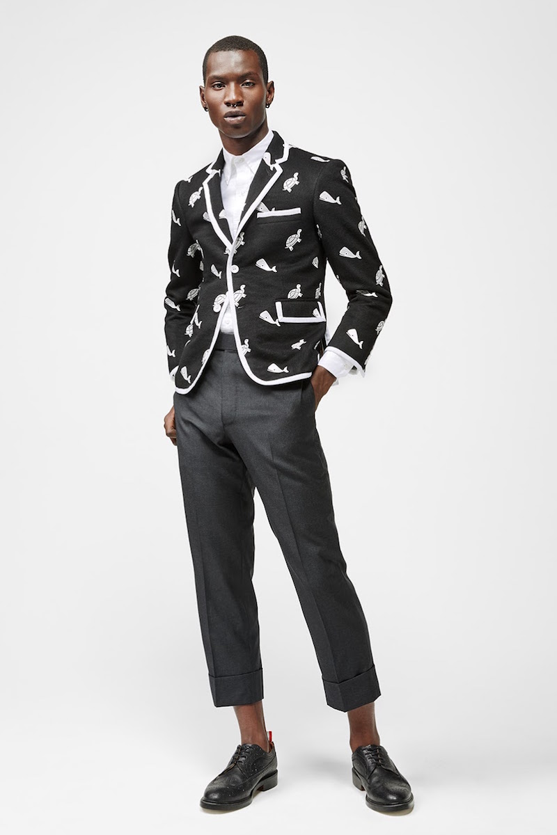 Thom Browne Embroidered Three-Button Sportcoat