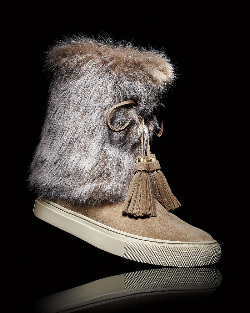 Tory Burch Anjelica Fur-Cuff Boot
