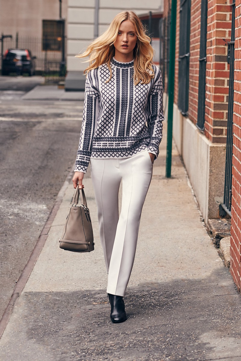 Tory Burch Merino Jacquard Sweater