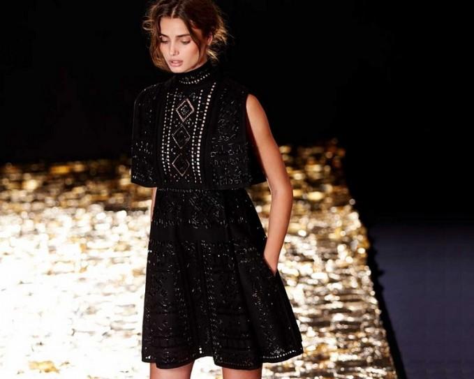 Valentino Beaded Punchwork Layered Dress-