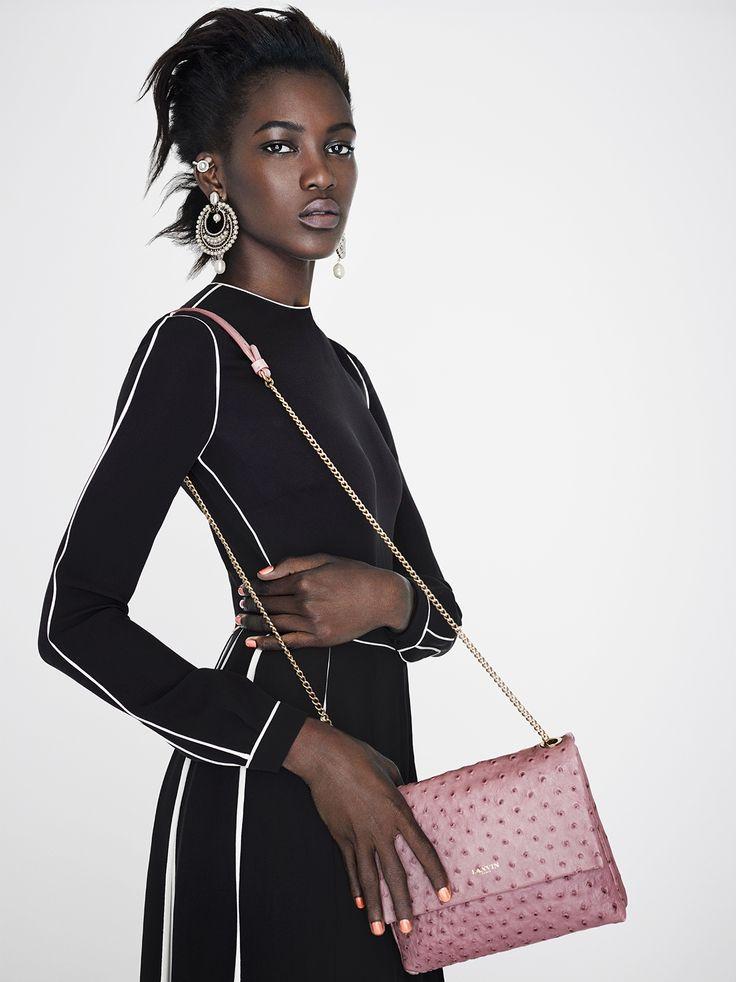 Valentino Bi-colour pleated midi dress