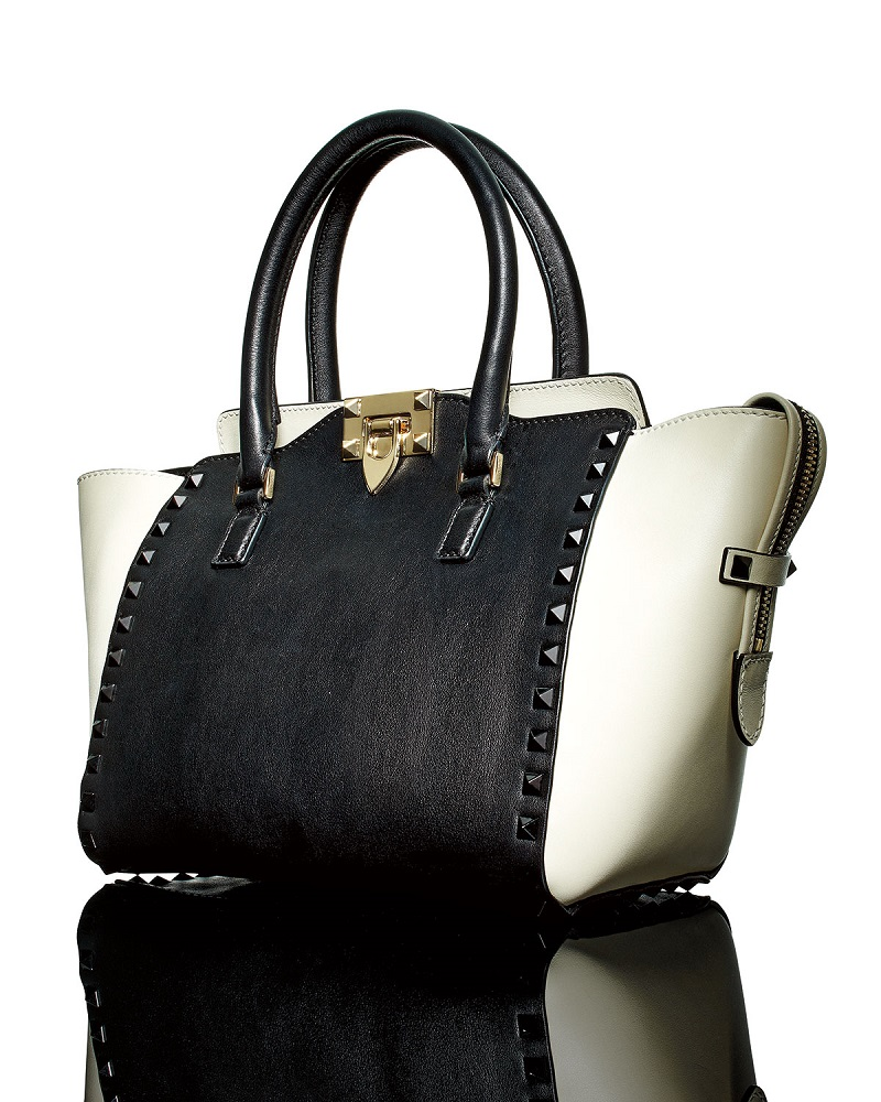 Valentino Small Double-Handle Pagoda Shopper Bag