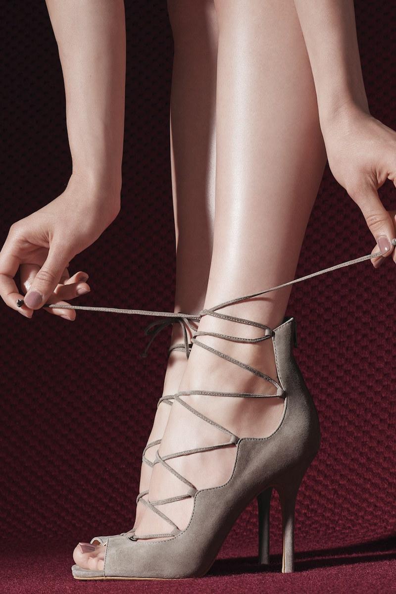 Vince Camuto Sandria Lace Up Peep Toe Sandal