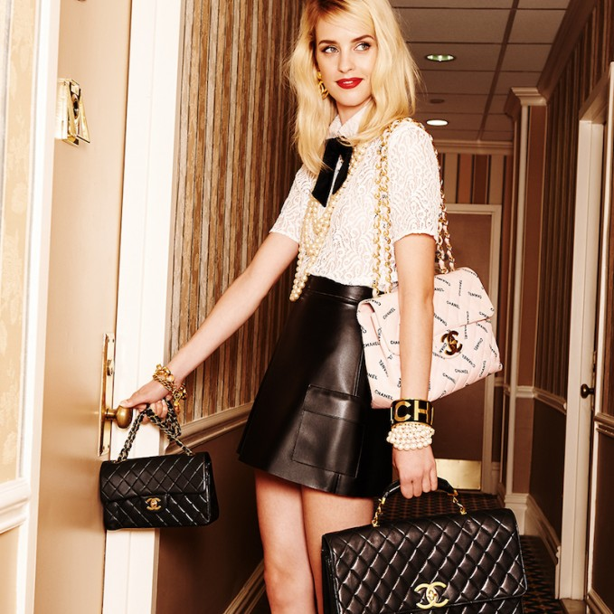 What Goes Around Comes Around Chanel Half Flap Maxi Bag