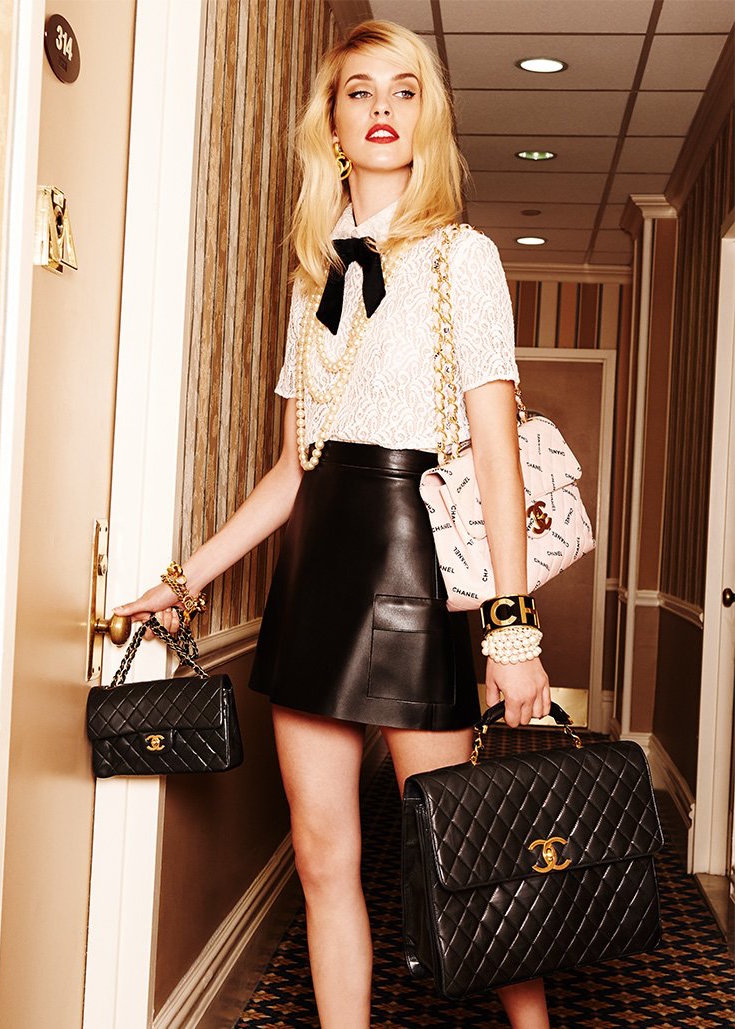 What Goes Around Comes Around Chanel Quilted Briefcase