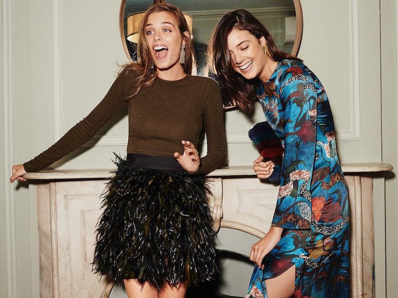 alice + olivia Christi Bell Sleeve Maxi Dress