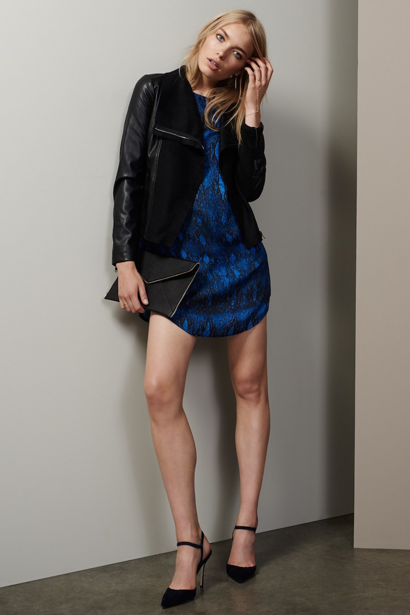 cupcakes and cashmere Erica Snake Print Dress