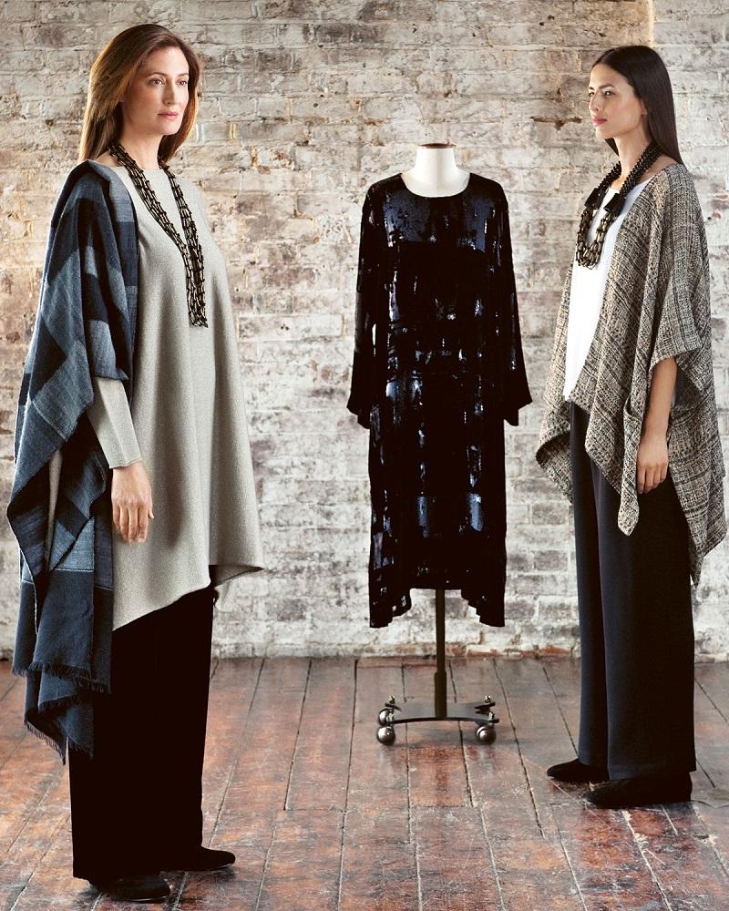 eskandar Cashmere-Blend Shimmer Knit Caftan