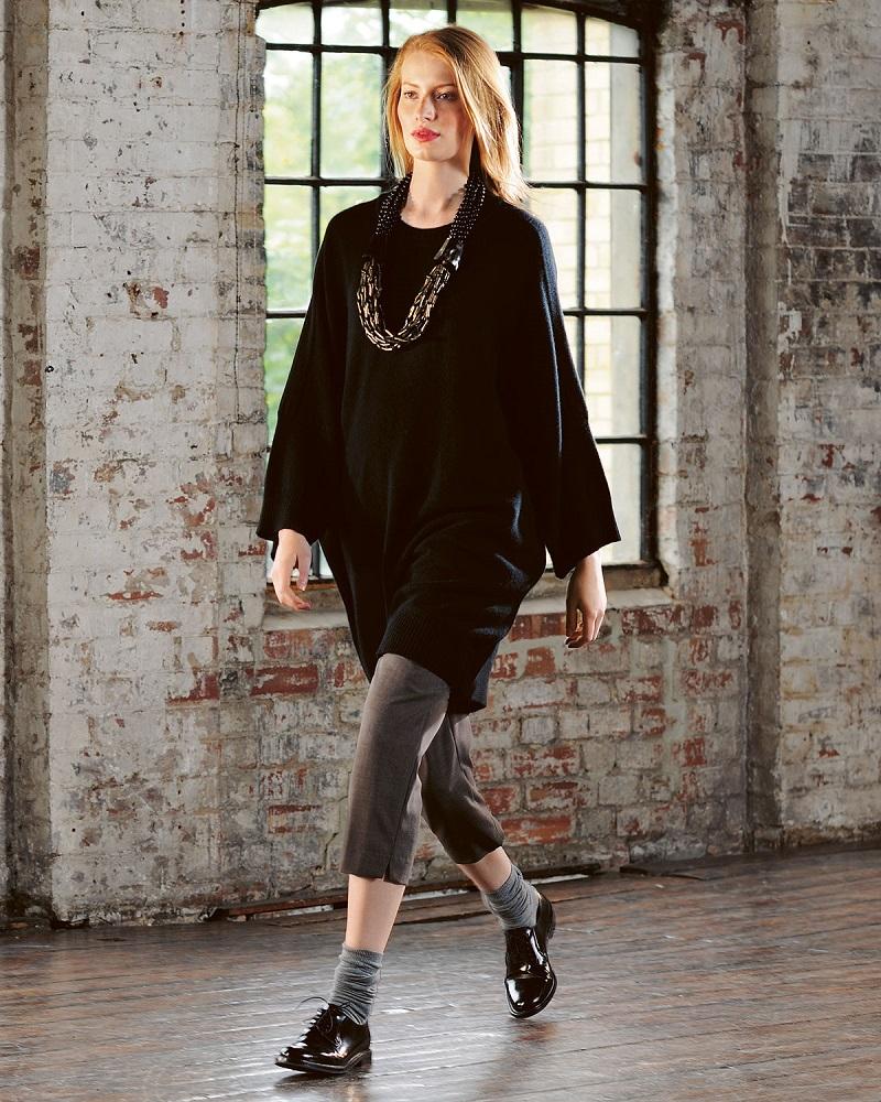 eskandar Crewneck Dolman-Sleeve Cashmere Sweater