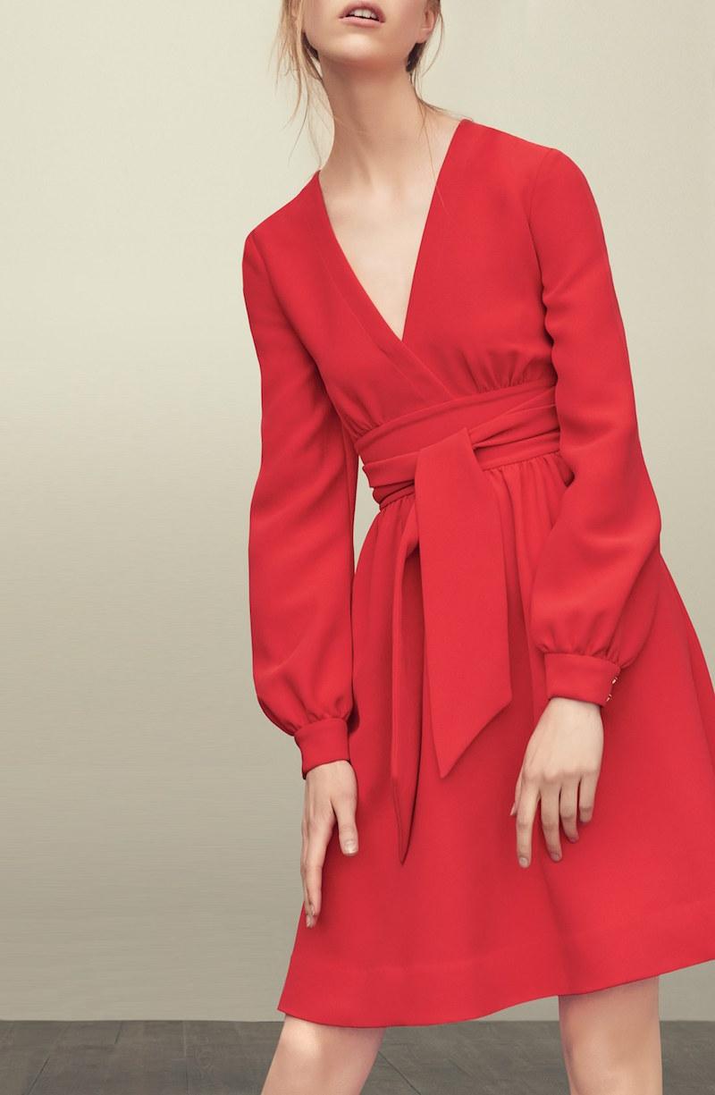 kate spade new york long sleeve tie dress