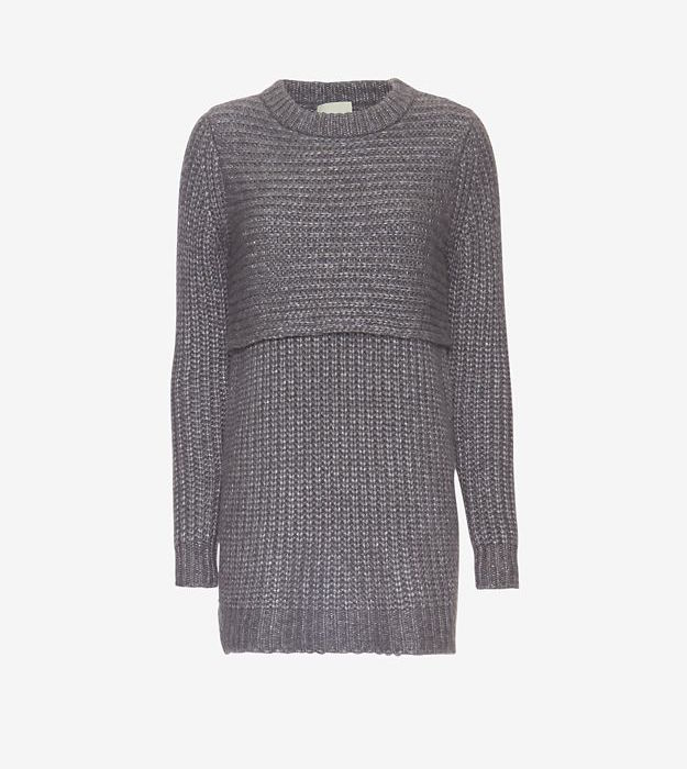 mason by michelle mason Double Layer Sweater Dress_1