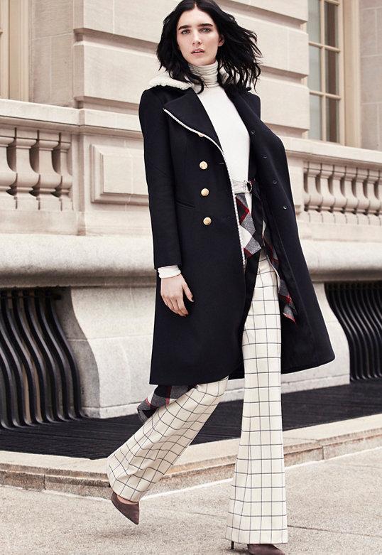 rag & bone Sullivan Shearling Collar Coat