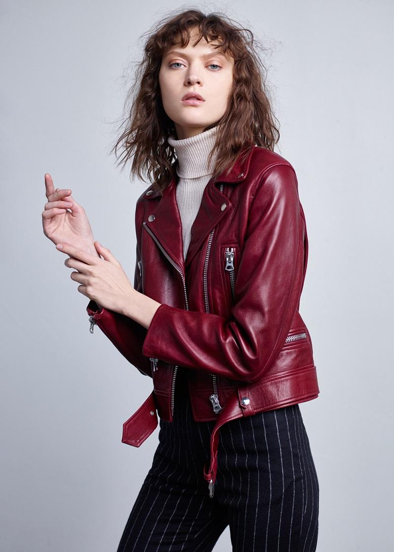 Acne Studios Mock Leather Jacket
