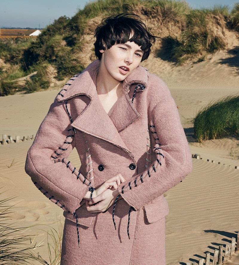 Acne Studios Pink Evia Coat-