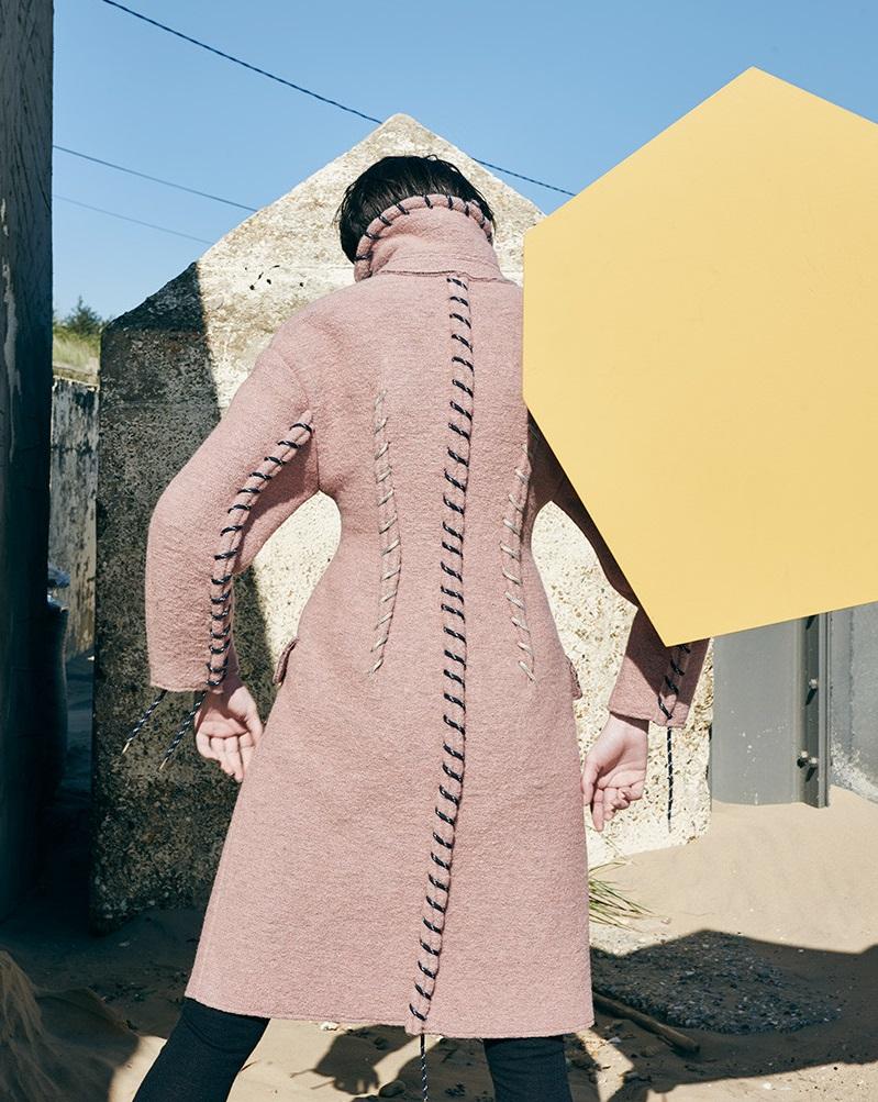 Acne Studios Pink Evia Coat