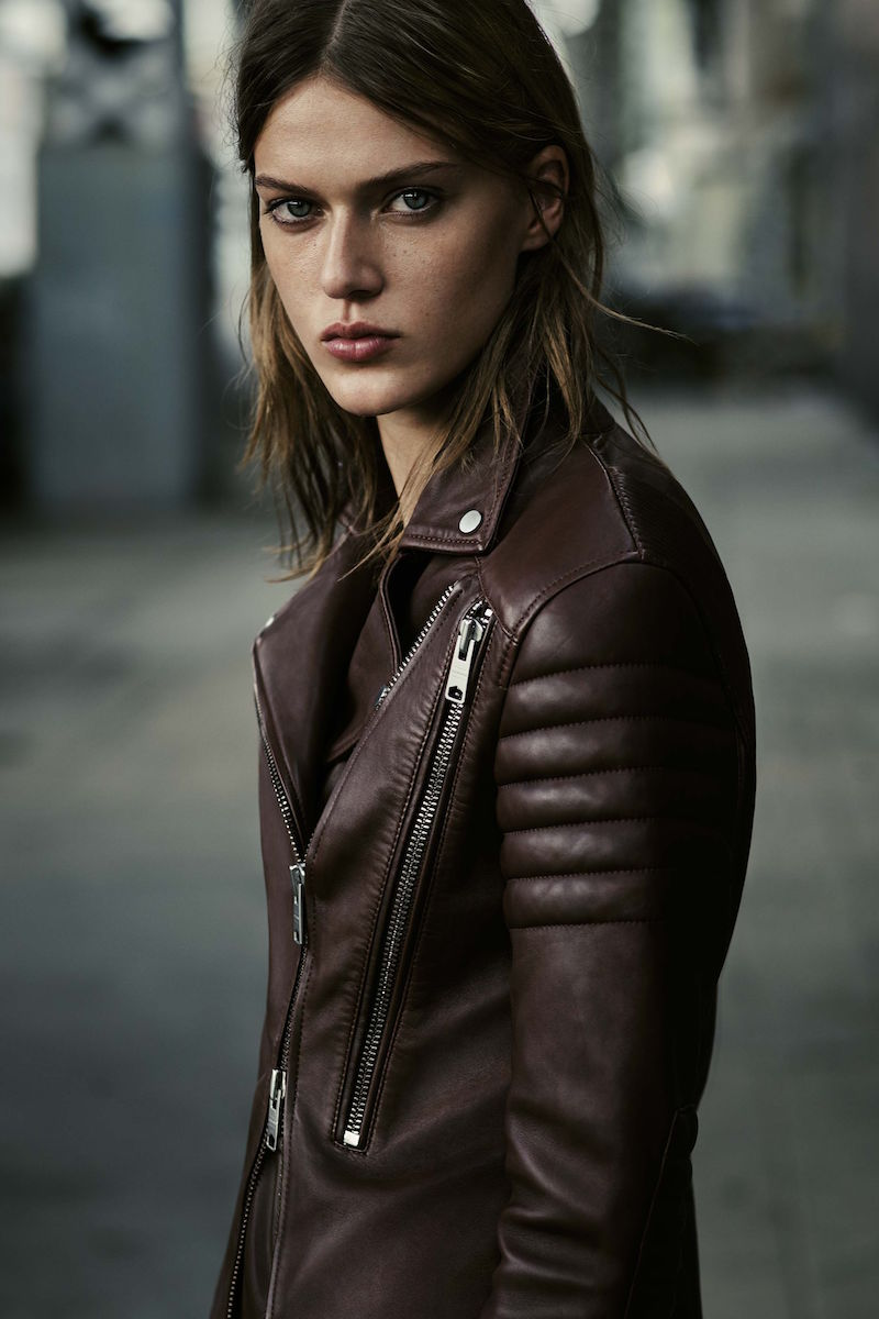 AllSaints Alder Leather Biker Jacket