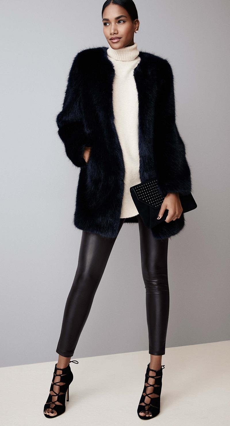 Ann Taylor Faux Fur Topper