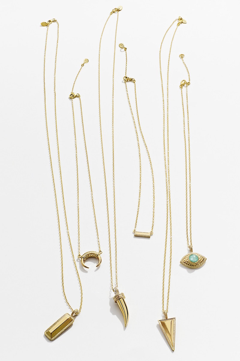 Anna Beck Skinny Horn Pendant Necklace