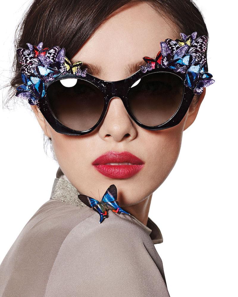 Anna-Karin Karlsson 3D Glitter Butterfly Sunglasses