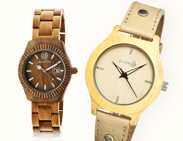 Back to Nature Earth Watches at MYHABIT