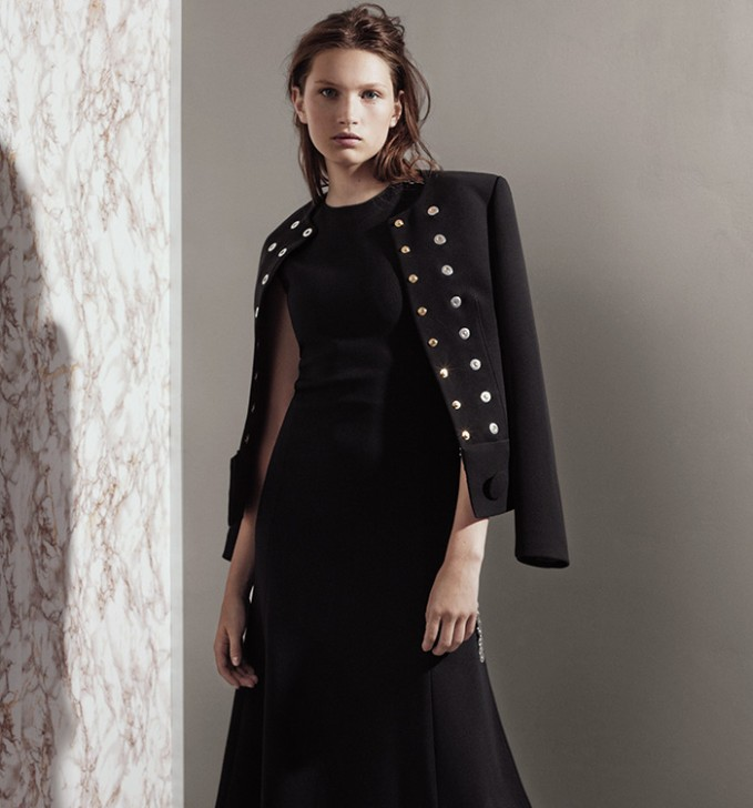Balenciaga Rivet-detail Collarless Jacket