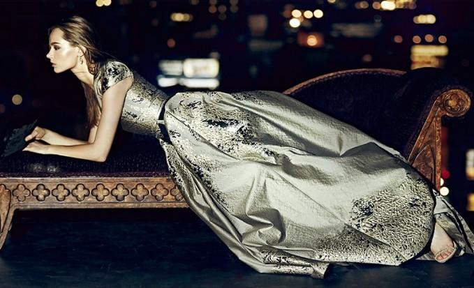 Carolina Herrera Westeria Metallic Jacquard Gown