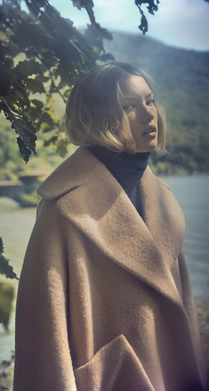 Carven Pink Wool Manteau Court Coat