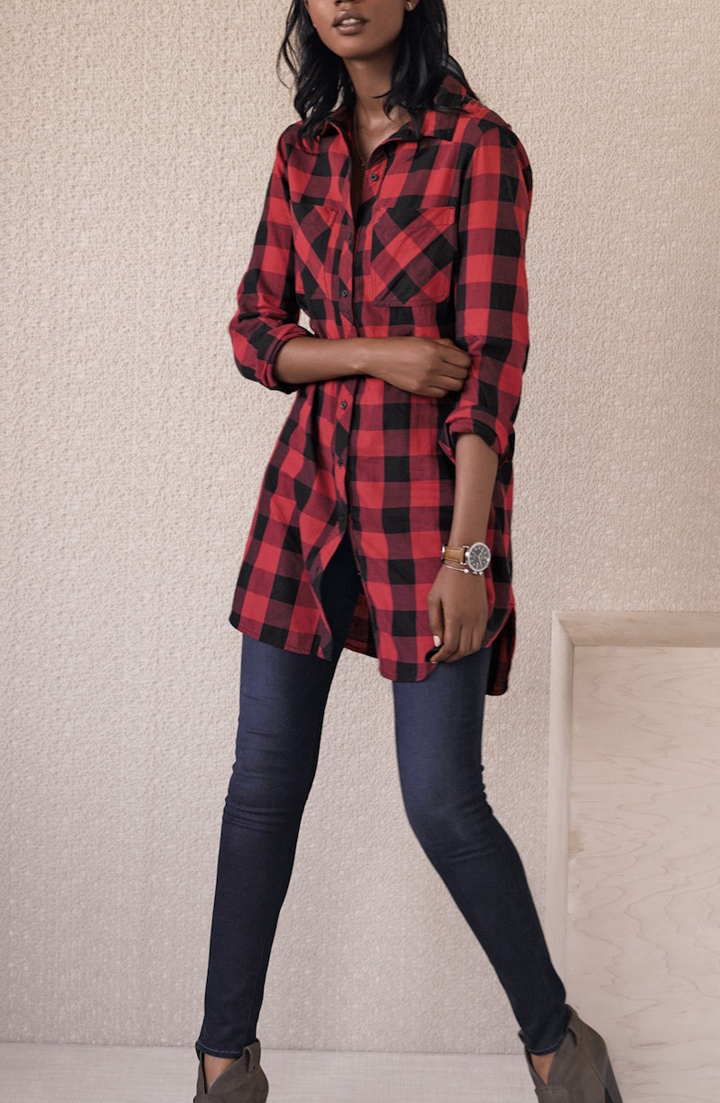 Caslon 2-Pocket Tunic Shirt