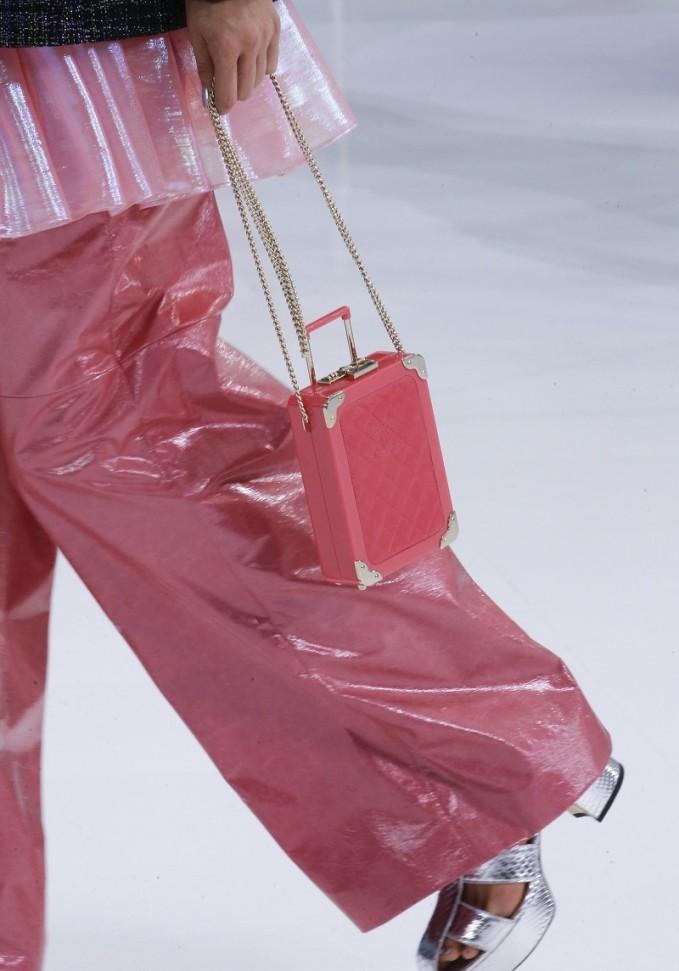 Chanel Mini Rolling Suitcase Purse