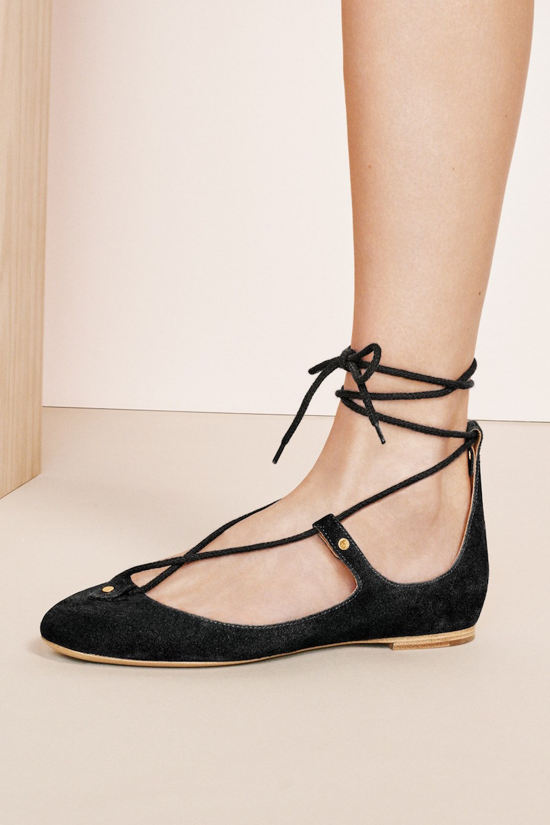 Chloé Foster Lace-Up Ballet Flat