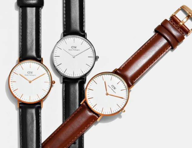 Classic Leather Watches feat. Daniel Wellington at MYHABIT