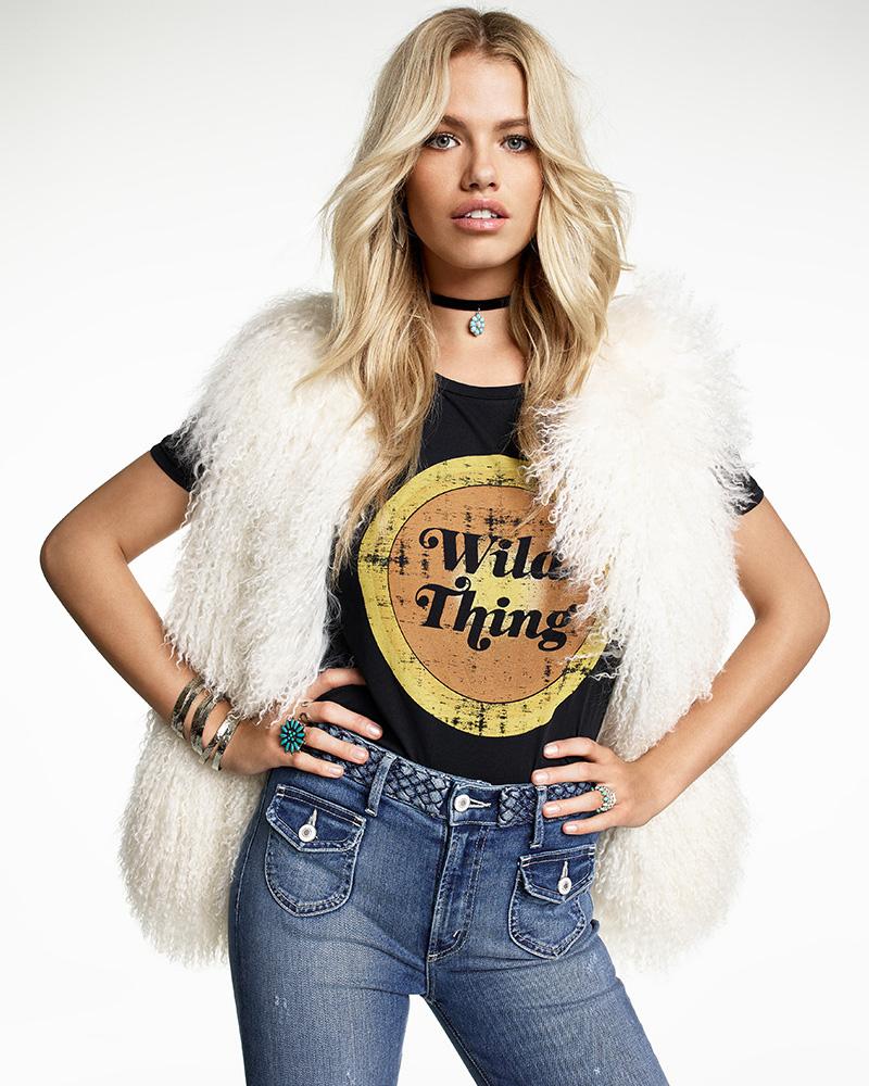 EAVES SU2C x REVOLVE Darla Lamb Fur Vest