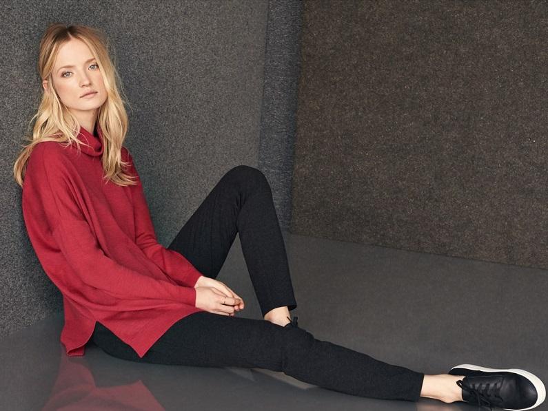 Eileen Fisher Boxy Merino Turtleneck Sweater
