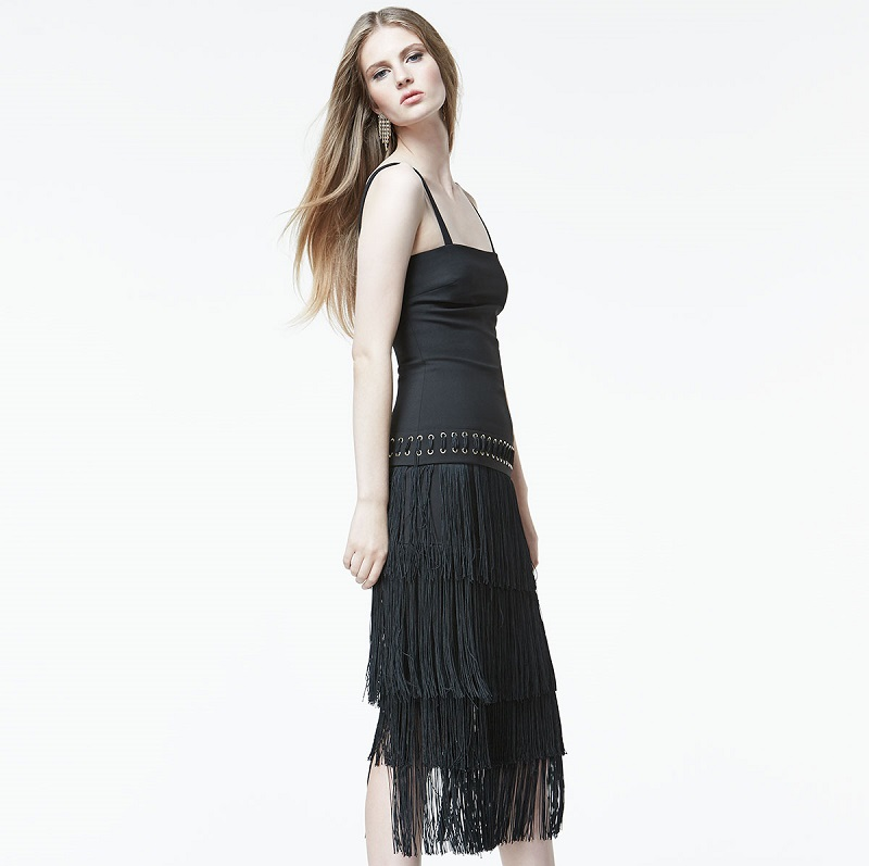 Elizabeth and James Zuly Layered-Fringe Dress