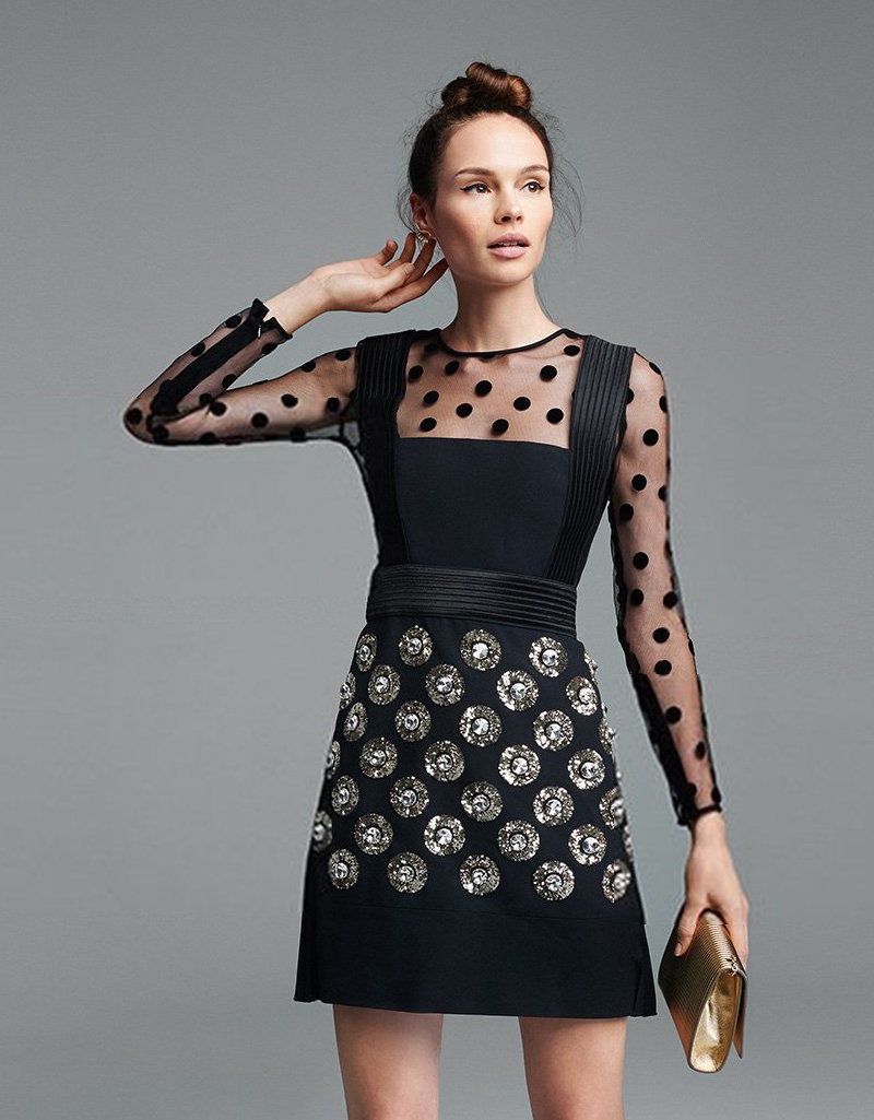 Emanuel Ungaro Long Sleeve Dress