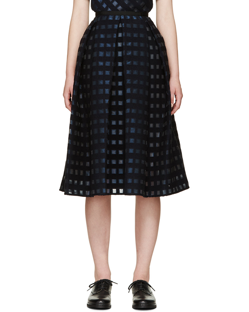 Erdem Blue Fil Coupé Ina Skirt_1