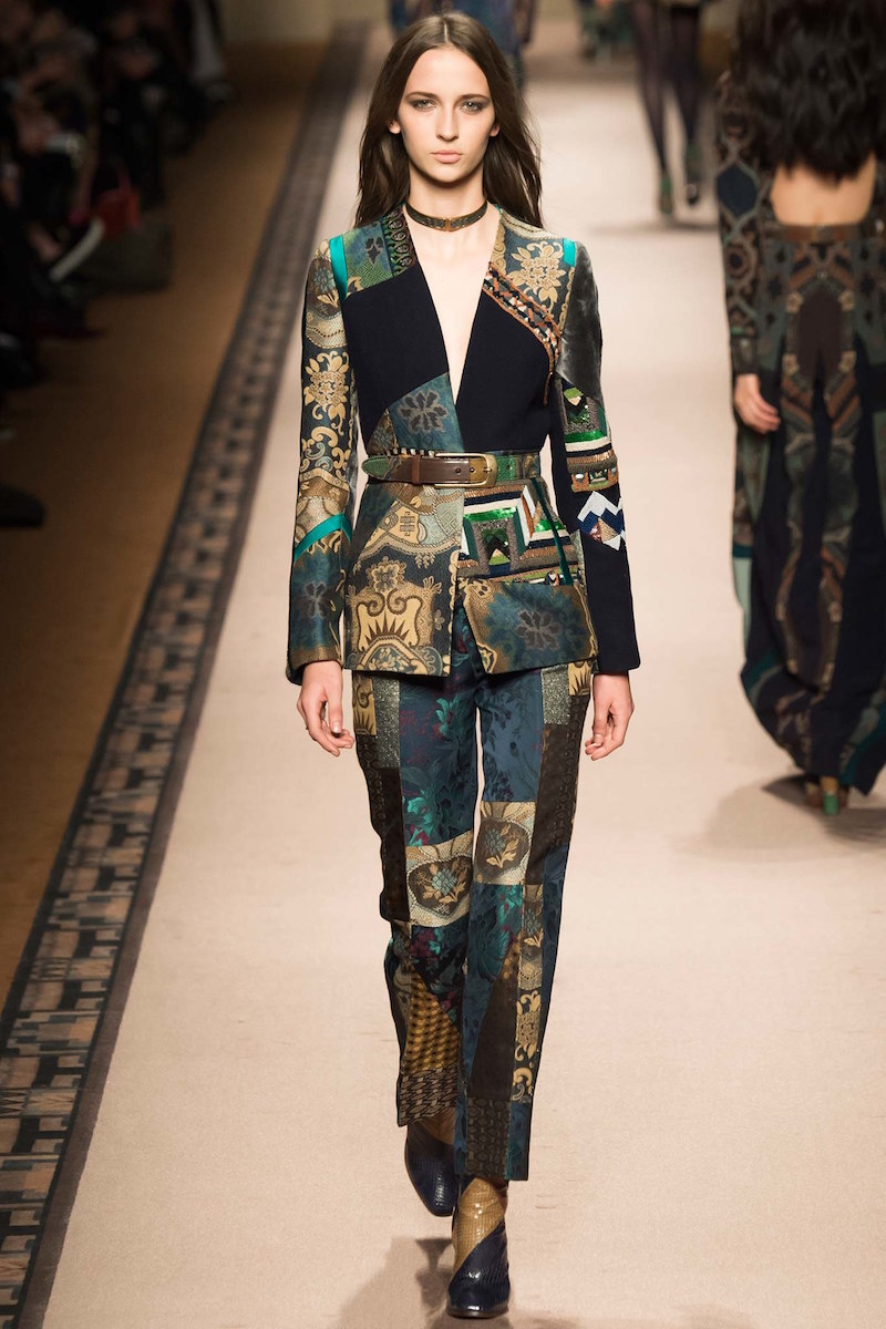 Etro Beaded Patchwork V-Neck Jacket