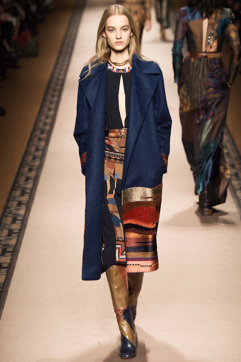 Etro Embroidered Landscape Double-Breasted Coat