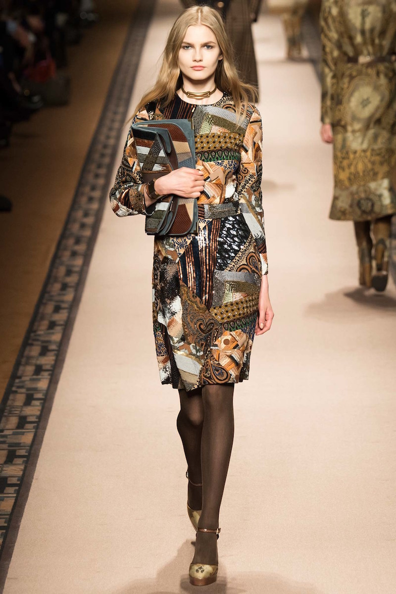Etro Mosaic Beaded A-Line Dress