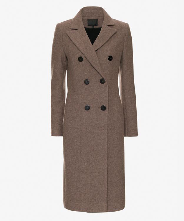Exclusive For Intermix Double Breasted Knee Length Coat_1