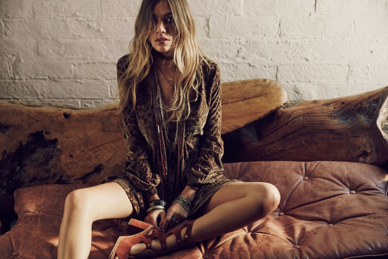 Free People All Night Long Mini Dress