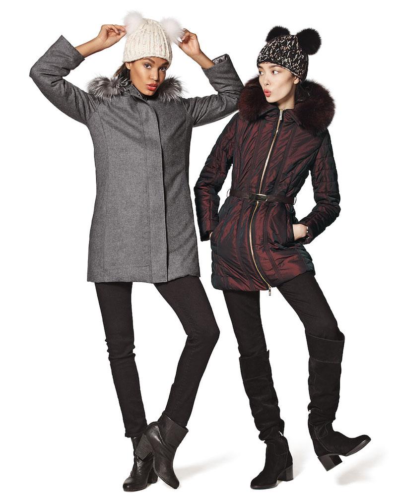 Gorski Zip-Front Belted Fur-Trim Puffer Coat