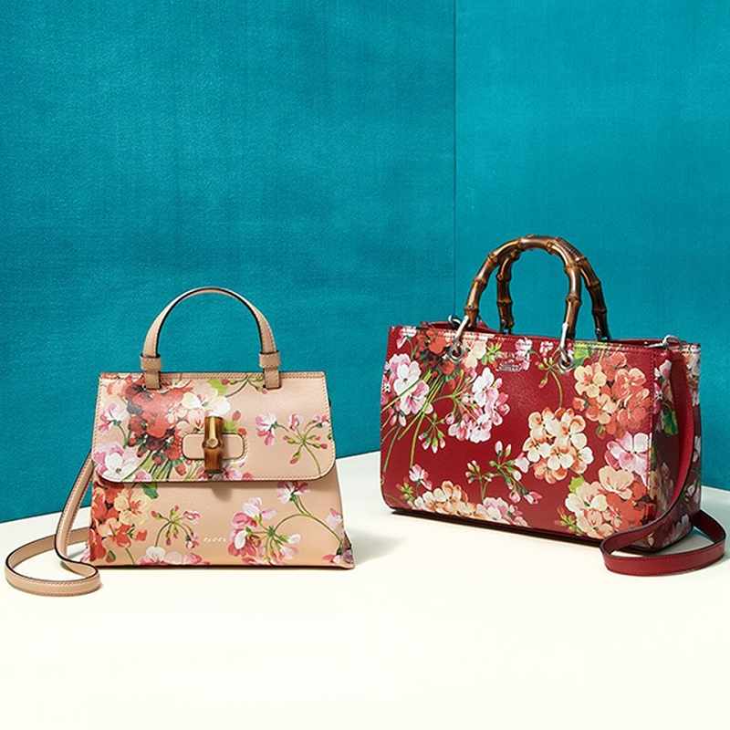 Gucci Bamboo Daily Blooms Top-Handle Bag