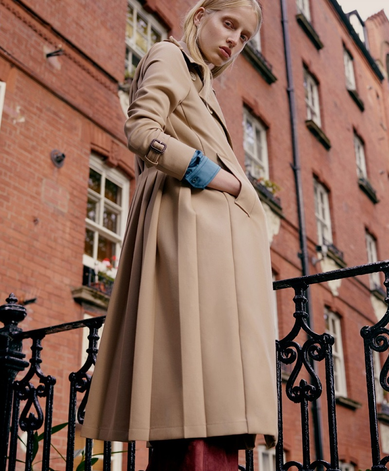 Gucci Martingale-back wool trench coat