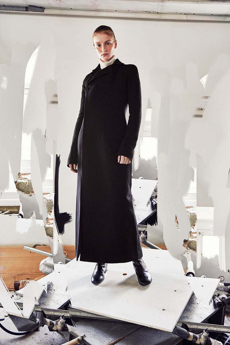 Haider Ackermann Black Wool Cut-Out Coat