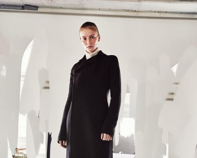Haider Ackermann Black Wool Cut-Out Coat