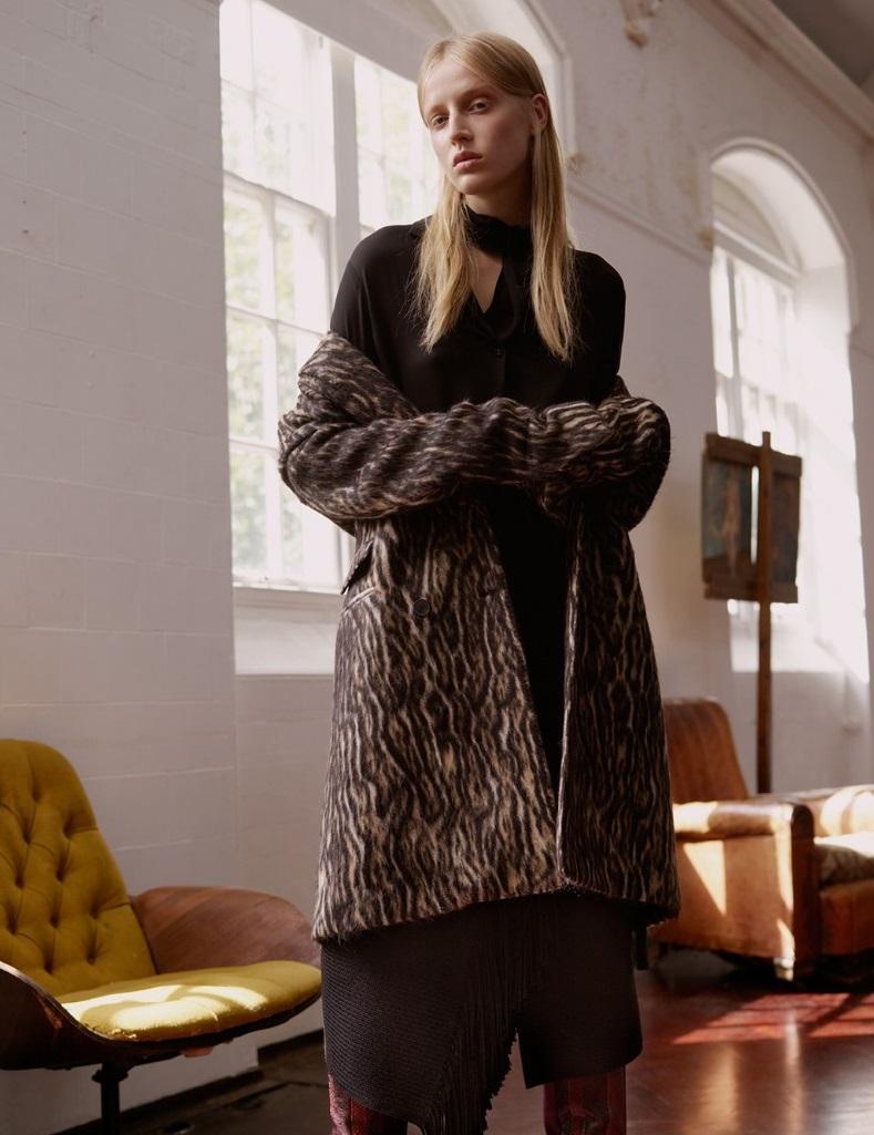Haider Ackermann Leopard wool-blend coat