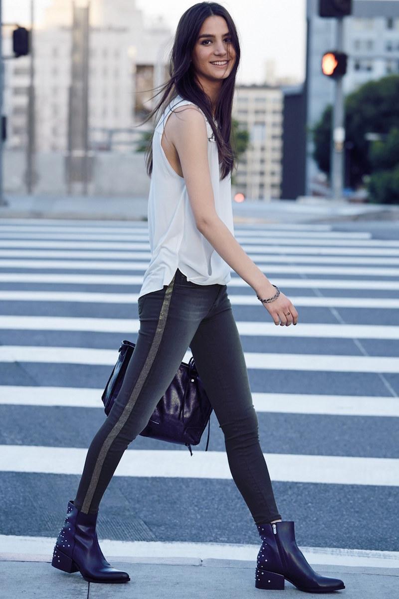 Hudson Jeans Luna Embellished Skinny Jeans