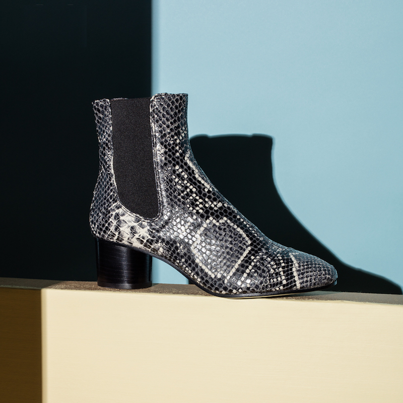 Isabel Marant Danae Printed Python Leather Boots